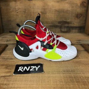Nike Huarache Edge White Red Lace Up Sneakers